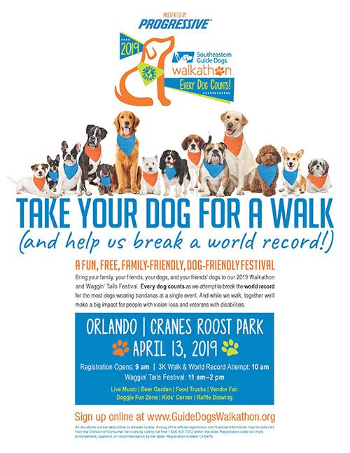 Southeastern Guide Dogs Walkathon Event Poster